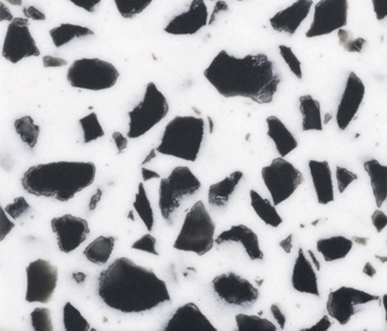 Corian® Black chips K by Hasenkopf | Mineral composite panels