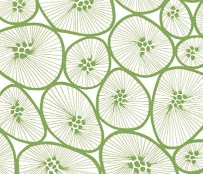 Korall white I green di BANTIE | Tessuti tende