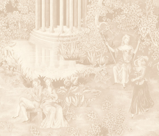 Andantino Beige by Equipo DRT | Wall coverings