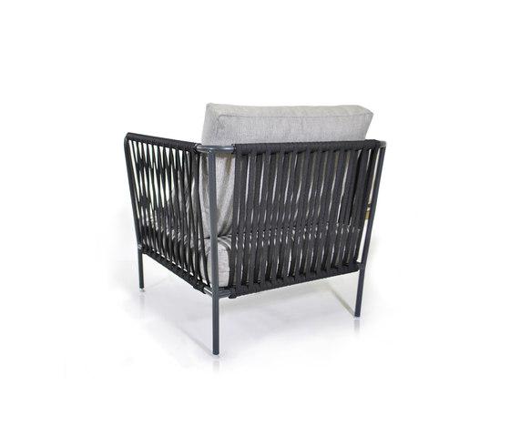 Nido Hand-woven armchair by Expormim | Garden armchairs