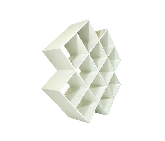 Oblique bookcase by Nolen Niu | Magazine shelves