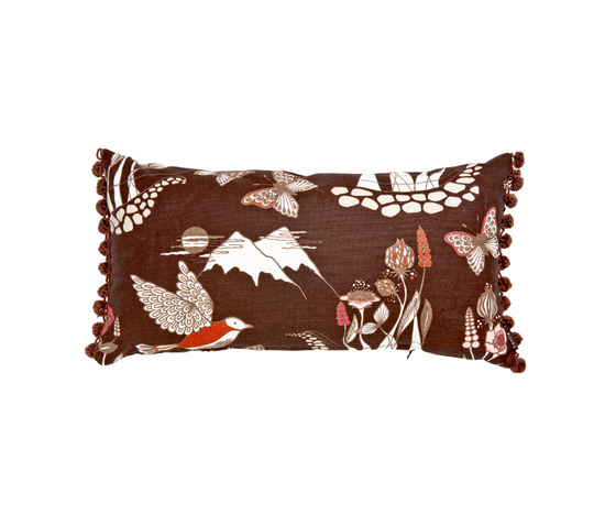 Nattviol multi brown Cushion by BANTIE | Cushions