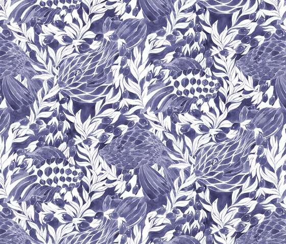 Ocean blue by BANTIE | Curtain fabrics