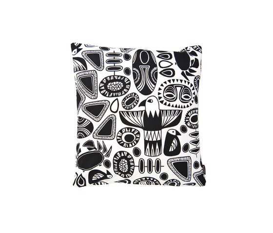 Totem black I white Cushion by BANTIE | Cushions