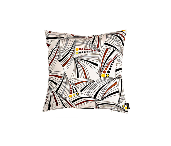 Sydney white I brown I yellow Cushion by BANTIE | Cushions