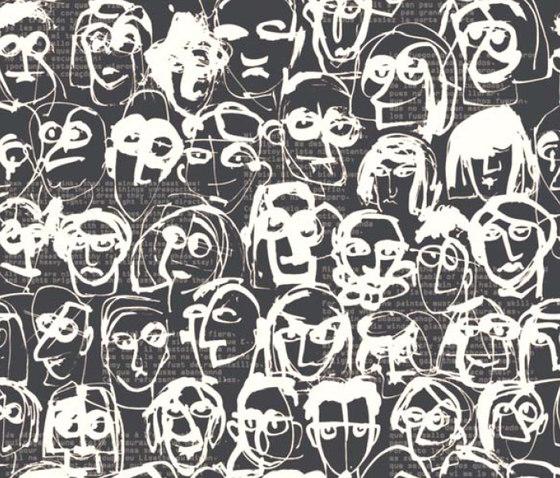 Les Amis Antracita von Equipo DRT | Wandbeläge / Tapeten