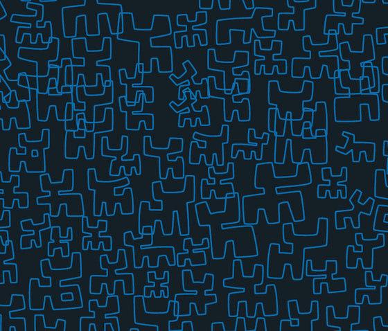 Toritos Azul von Equipo DRT | Wandbeläge / Tapeten