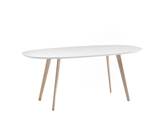 Gher h74 Oval top by Arper | Restaurant tables