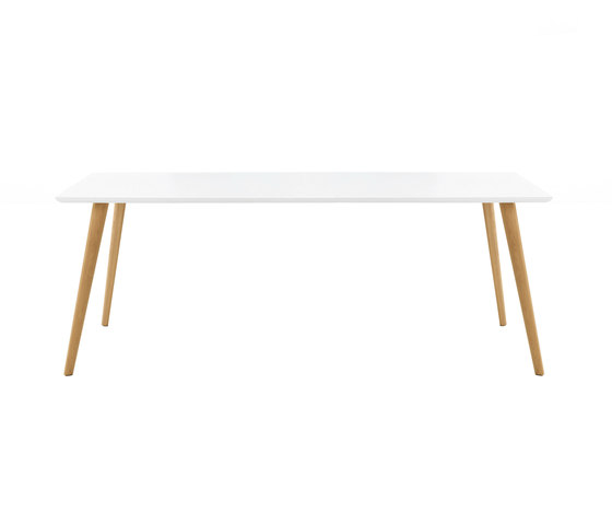 Gher h74 Rectangular top by Arper | Restaurant tables