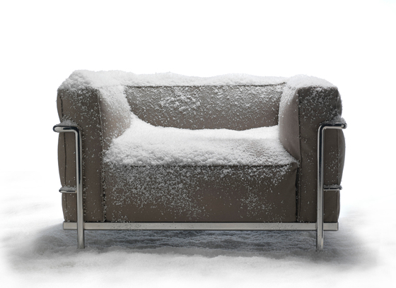 LC3 Outdoor Armchair by Cassina | Garden armchairs