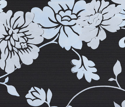 Flatline - Flowery Decor Black de Kale | Baldosas