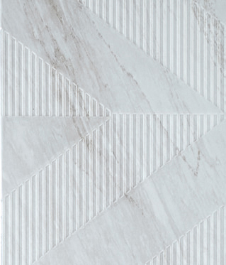 Bardiglio - Geometric Decor Ice Grey by Kale | Ceramic tiles