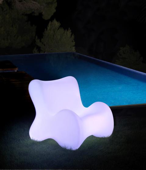 Doux butaca llum by Vondom | Garden armchairs