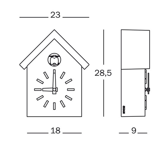 Cu - Clock von Magis | Uhren