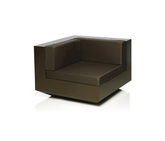 Vela sofa right unit by Vondom | Modular seating elements