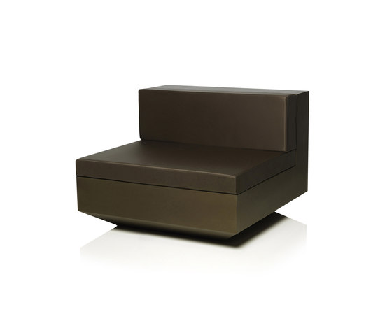 Vela sofa central unit by Vondom | Modular seating elements