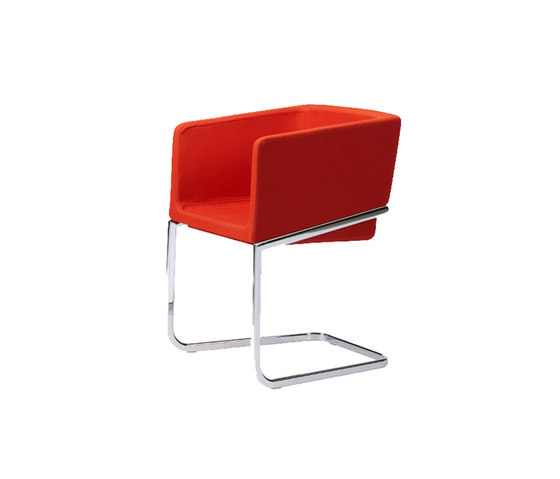 Tonic armchair cantilever by Rossin | Visitors chairs / Side chairs