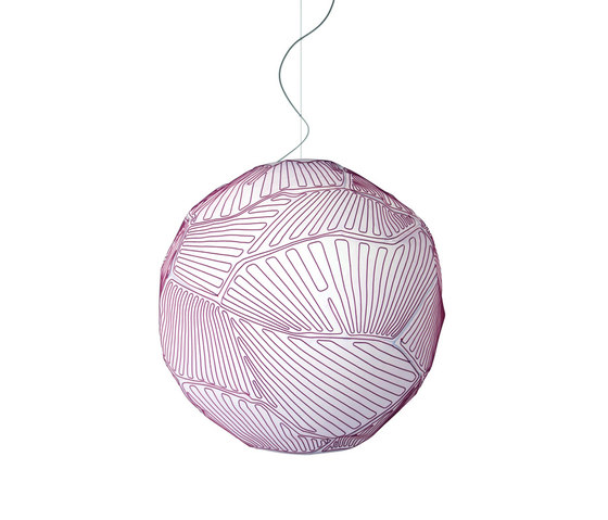 Planet suspension large white/red de Foscarini | Iluminación general