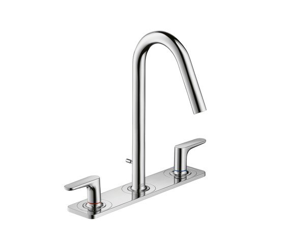 AXOR Citterio M 3-Hole Basin Mixer with plate DN15 by AXOR | Wash-basin taps