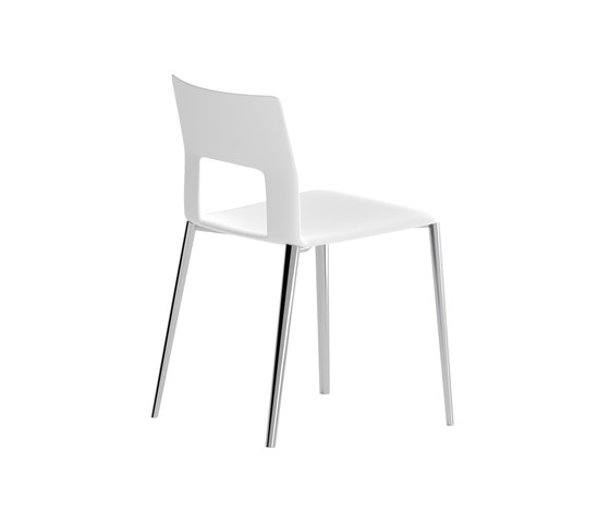 Kobe chair with aluminium legs de Desalto | Sillas multiusos