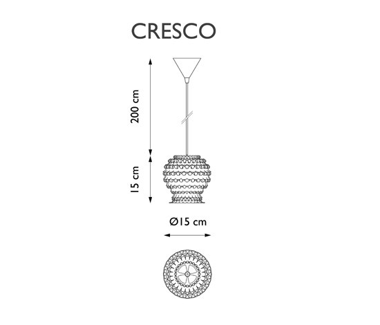 Cresco Hanging light by Freedom Of Creation | General lighting
