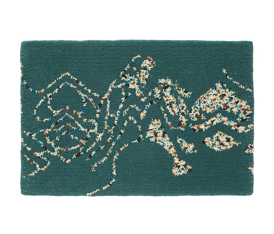 Embroidery Turquoise 301 by Kasthall | Rugs / Designer rugs