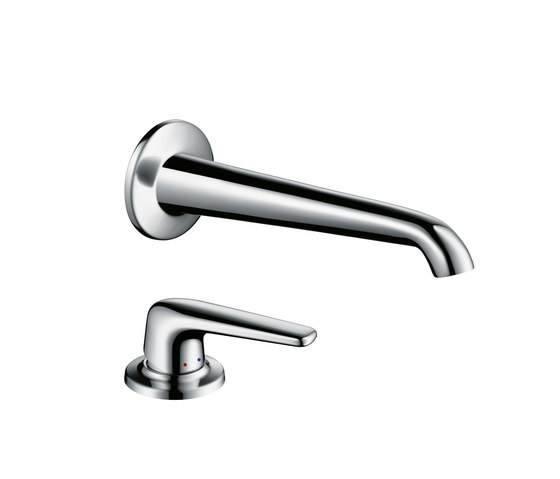 AXOR Bouroullec single lever basin mixer with wall spout 200 mm for concealed installation and handle by AXOR | Wash-basin taps