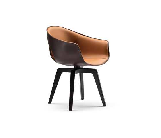 Ginger by Poltrona Frau | Visitors chairs / Side chairs