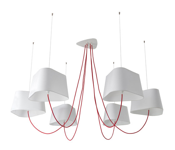 Nuage Chandelier 6 large by designheure | Ceiling suspended chandeliers