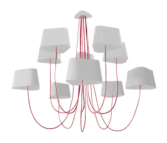 Nuage Chandelier 10 large by designheure | Ceiling suspended chandeliers