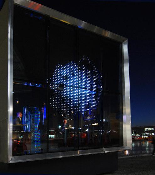 powerglass® Medienfassade: Kubus von Peter Platz Spezialglas | Fassadensysteme