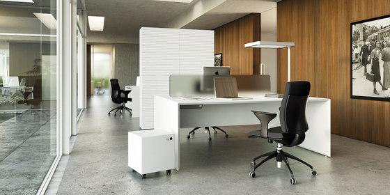 Quaranta5 Black by Fantoni | Desking systems