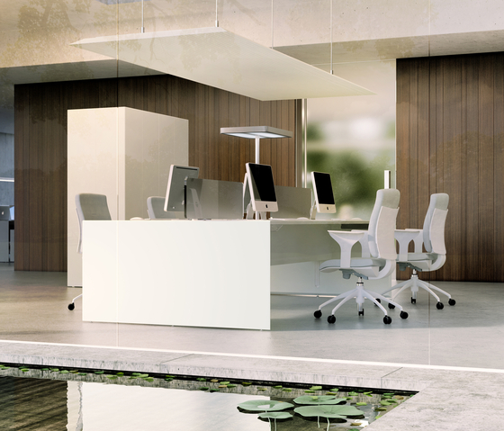 Quaranta5 White by Fantoni | Desking systems