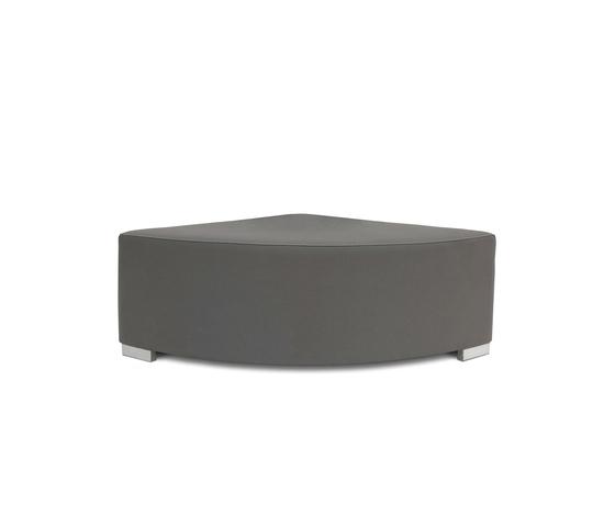 Block 90 Hocker round 1/4 by Design2Chill | Poufs