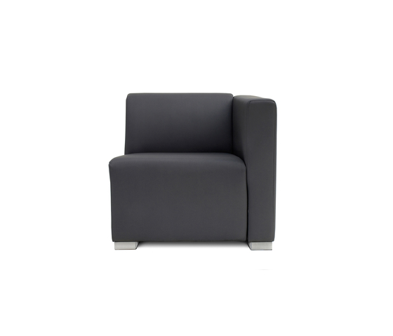 Square 1 Seat with 1 arm by Design2Chill | Modular seating elements