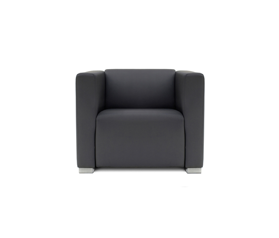 Square 1 Seat with 2 arms by Design2Chill | Modular seating elements