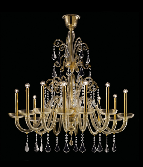 Izmir ceiling suspended chandeliers from barovier toso for Barovier e toso