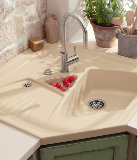 Arena integral Corner sink by Villeroy & Boch | Kitchen sinks