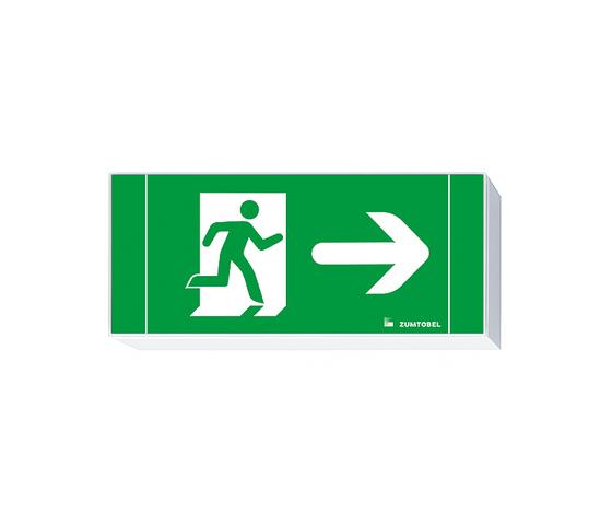 ERGOSIGN LED Escape sign luminaire by Zumtobel Lighting | Ceiling-mounted emergency lights