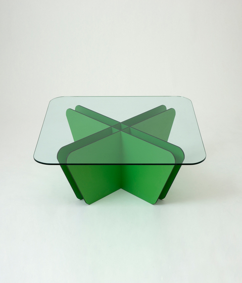 Grid Green Cross Table by Miranda Watkins | Lounge tables