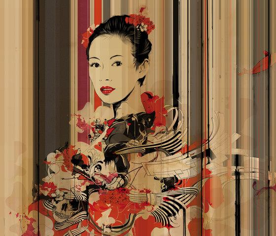 Yamazaki ga002b revestimientos de paredes papeles - Papeles pintados tres tintas ...