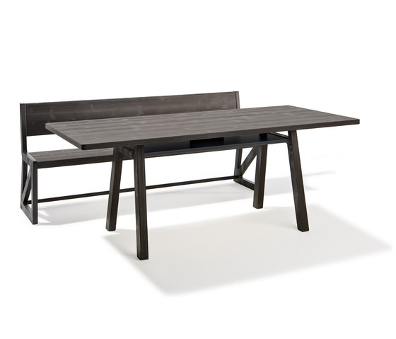 Stijl table and bench de Lampert | Tables et bancs