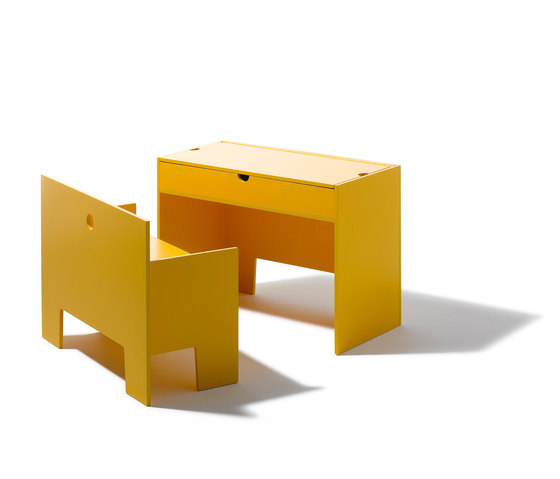 Wonder Box table and bench de Richard Lampert | Mesas para niños