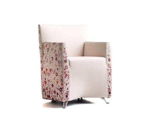 Aura poltrona fiorita di Baleri Italia by Hub Design | Sedie