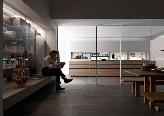 Living Mirus by Valcucine | Display cabinets
