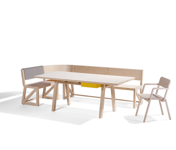 Stijl cornerbench amd table di Richard Lampert | Tavoli e panche