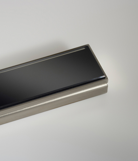 CeraLine glass black by DALLMER | Linear drains