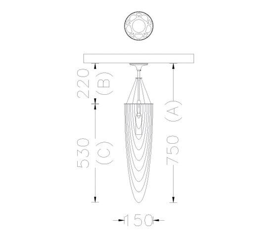 Circular Pod 150 Pendant Lamp by Willowlamp | General lighting
