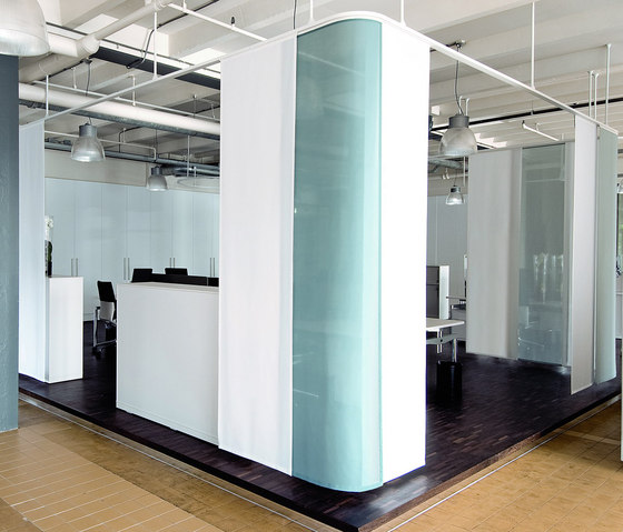 Sistemi per tende a pannelli Silent Gliss 2760 Flex di Silent Gliss | Pareti divisorie ufficio