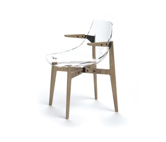 Aka Transparent neutral de Skitsch by Hub Design | Sillas para restaurantes